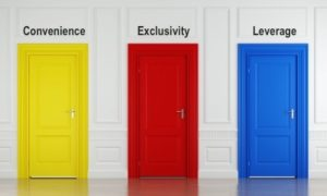 Convenience, Exclusivity, Leverage